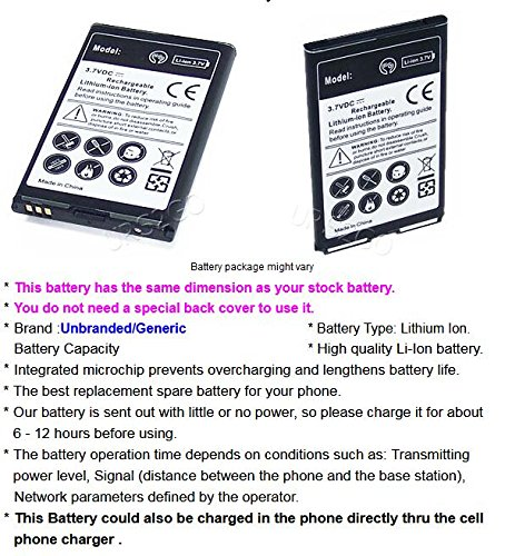 High Capacity 1800mAh Best Replacement Li_ion Battery With Additional Valueable Accessory (See Picture) for ZTE Cymbal-C LTE Z233VL Phone