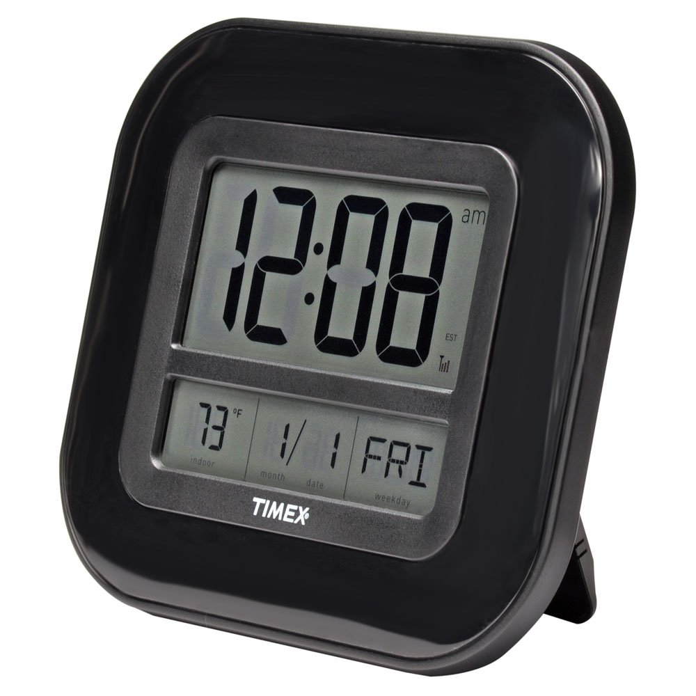 Amazon timex 75322t atomic clock with date day of week and amazon timex 75322t atomic clock with date day of week and indoor temperature home kitchen amipublicfo Images