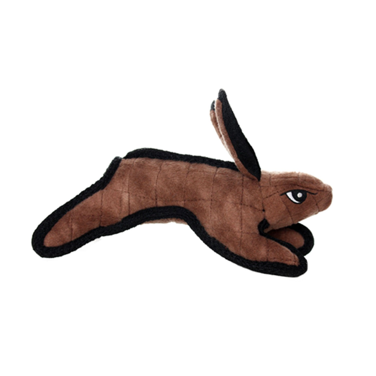 TUFFY Junior Barnyard Animal Rabbit, Durable, Dog Toy, Brown