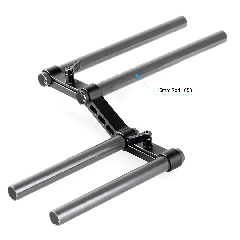 1031 SMALLRIG Z-Shape Offset Raised Railblock//Adjustable Handles for DSLR Shoulder Rig