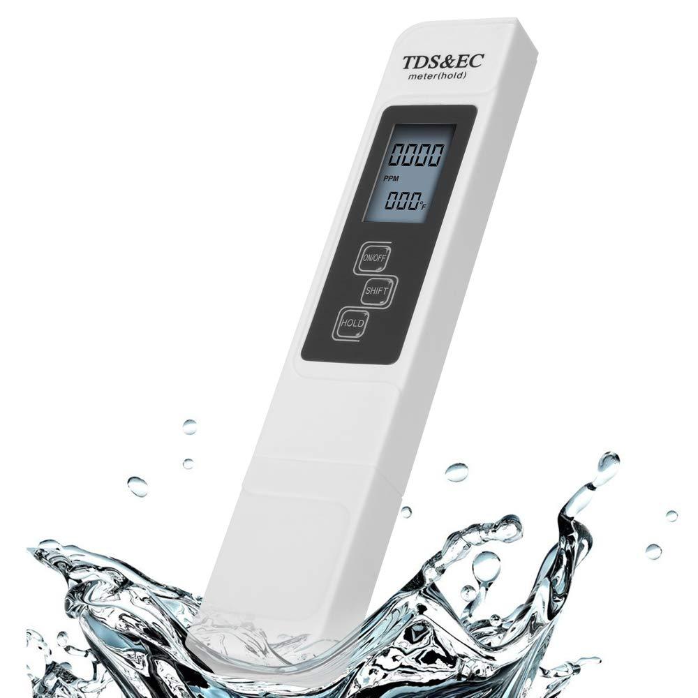 Josopa Medidor de Tds Medidor de Calidad Del Agua Medidor de Temperatura Ec 3 en 1 Ppm Lcd Detecci/ón de Conductividad Pluma Digital Port/átil Herramienta de Filtro para Agua Potable