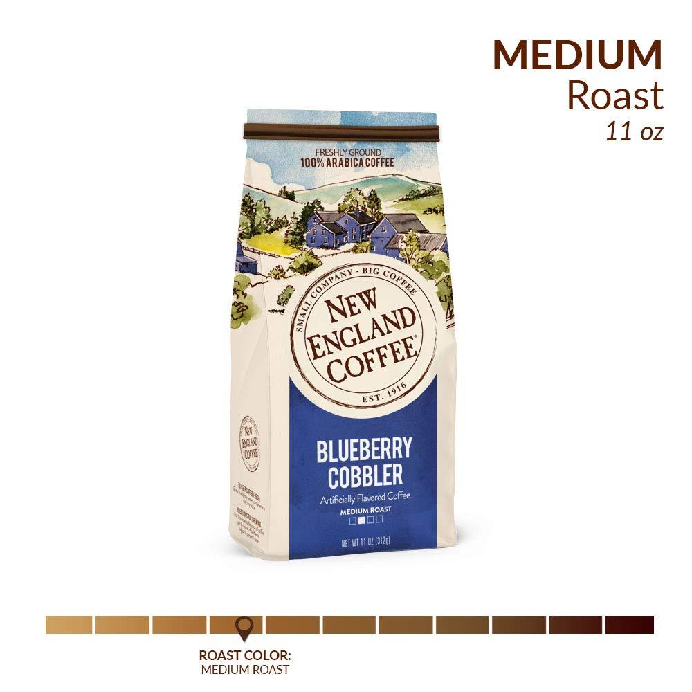 New England Coffee Blueberry Cobbler, Medium Roast Ground Coffee, 11 Ounce Bag by New England Coffee (Image #2)
