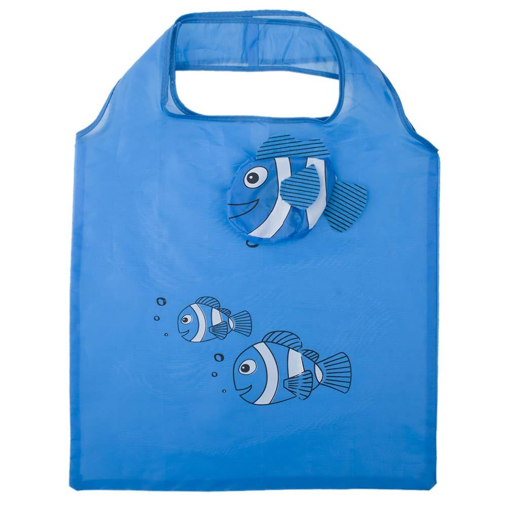 【楽天カード分割】 Opromo 10個魚の買い物袋カラフルな折り畳み式食料品袋のハンドルバッグ再利用可能なトートバッグ - オレンジ - 100 Opromo Pack B07GGTB3JV レークブルー 50 オレンジ 50 Pack 50 Pack|レークブルー, 湯河原町:799ca60c --- arianechie.dominiotemporario.com