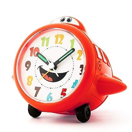Pequeño Reloj Despertador Plano Niños Mute Dormitorio ...
