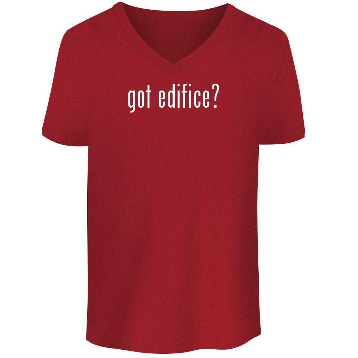 BH Cool Designs got Edifice? - Men's V Neck Graphic Tee, Red, Small