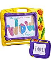 Wow Four Design Magnetic Drawing Board for Kids with a Mini Magna Doodle for Toddlers - Magnetic Doodle Board -Extra Large - 15.6 inch and Small 6.7 inch - New Etch Sketch Toddler 2,3,4,5,6 age