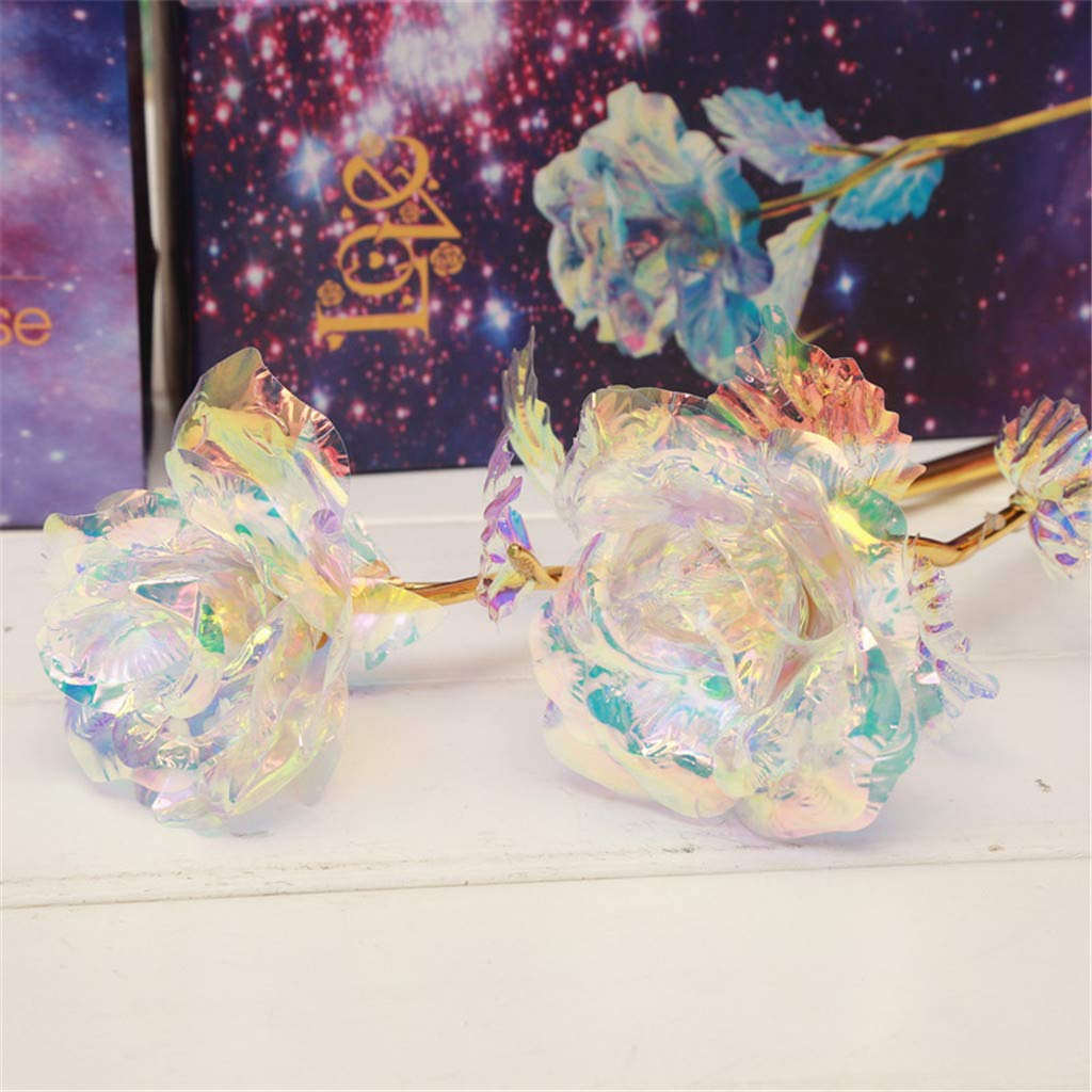 Forever Galaxy Rose With Love Base Everlasting Crystal Mother/'s day Best Gift