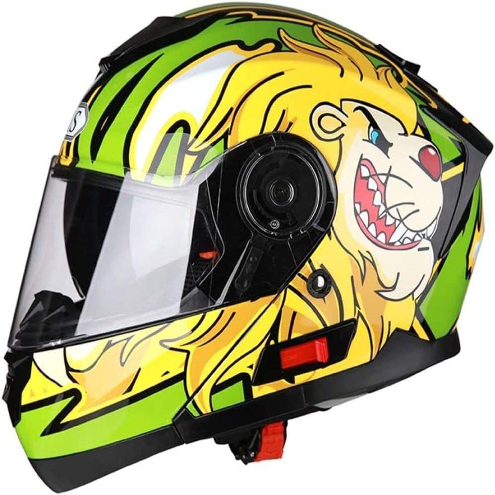 ZHXH Casco de motocicleta para adultos, casco unisex modular de cuatro estaciones de cara completa, en línea con la certificación de puntos y los estándares Ece