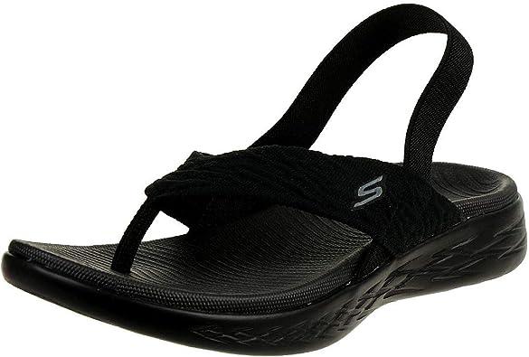 Skechers O T G Womens Sandals On The Go 600 Beach Day Sandalen Zehentrenner Women Schwarz Amazon De Schuhe Handtaschen