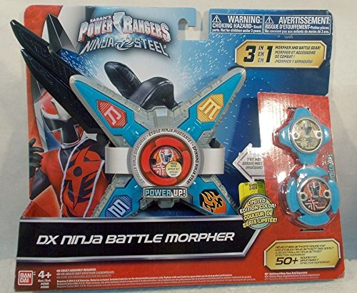 Power Rangers Ninja Steel Limited Edition Color DX Battle Morpher Blue & Silver -