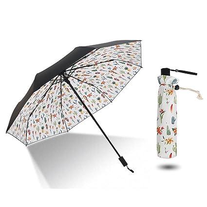 Paraguas Sombrilla para el Sol Sombrilla para el Sol sombrilla Ultra Ligera Sol Mini QIQIDEDIAN (