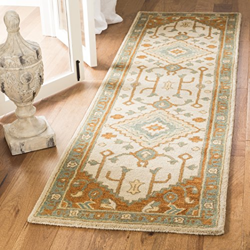 Safavieh Heritage Collection HG406A Light Blue and Rust Runner 2 3 x 10