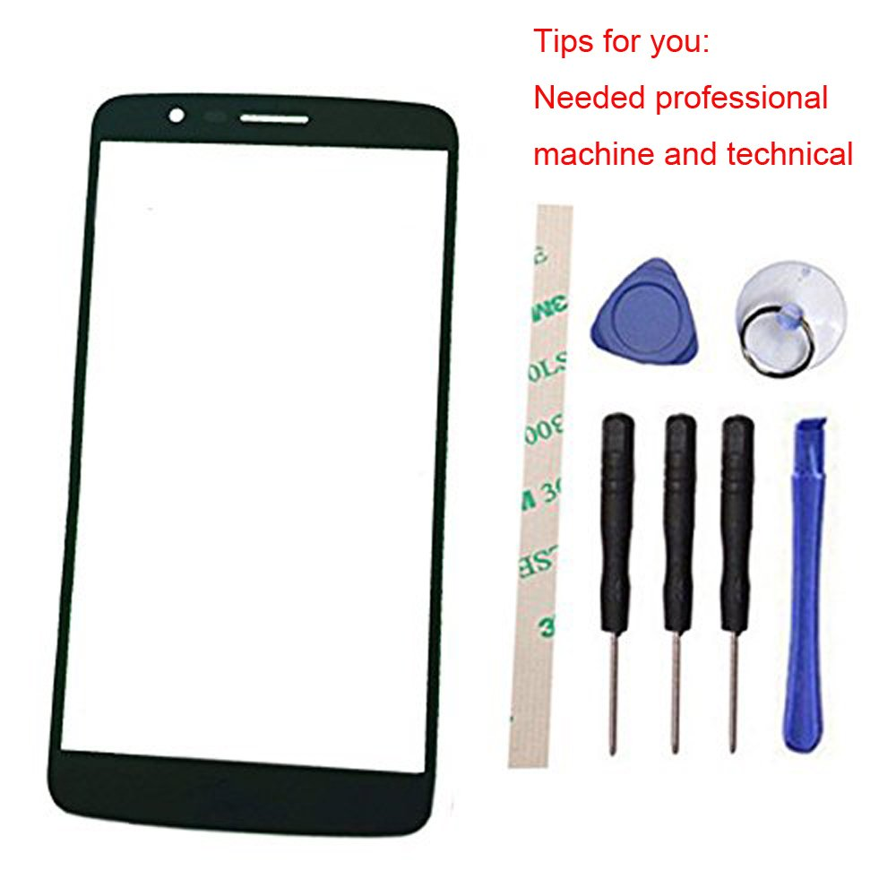 Outer Screen Front Glass Lens Replacement for LG Stylus/Stylo 3 LS777 M430 M400DK L83BL L84VL