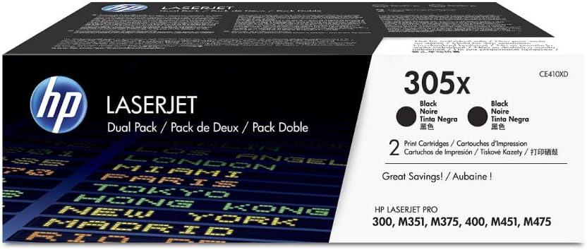Hp 305x 2er Pack Ce410xd Schwarz Original Toner Mit Hoher Reichweite Für Hp Laserjet Pro M351 M375nw M451 M475 Bürobedarf Schreibwaren