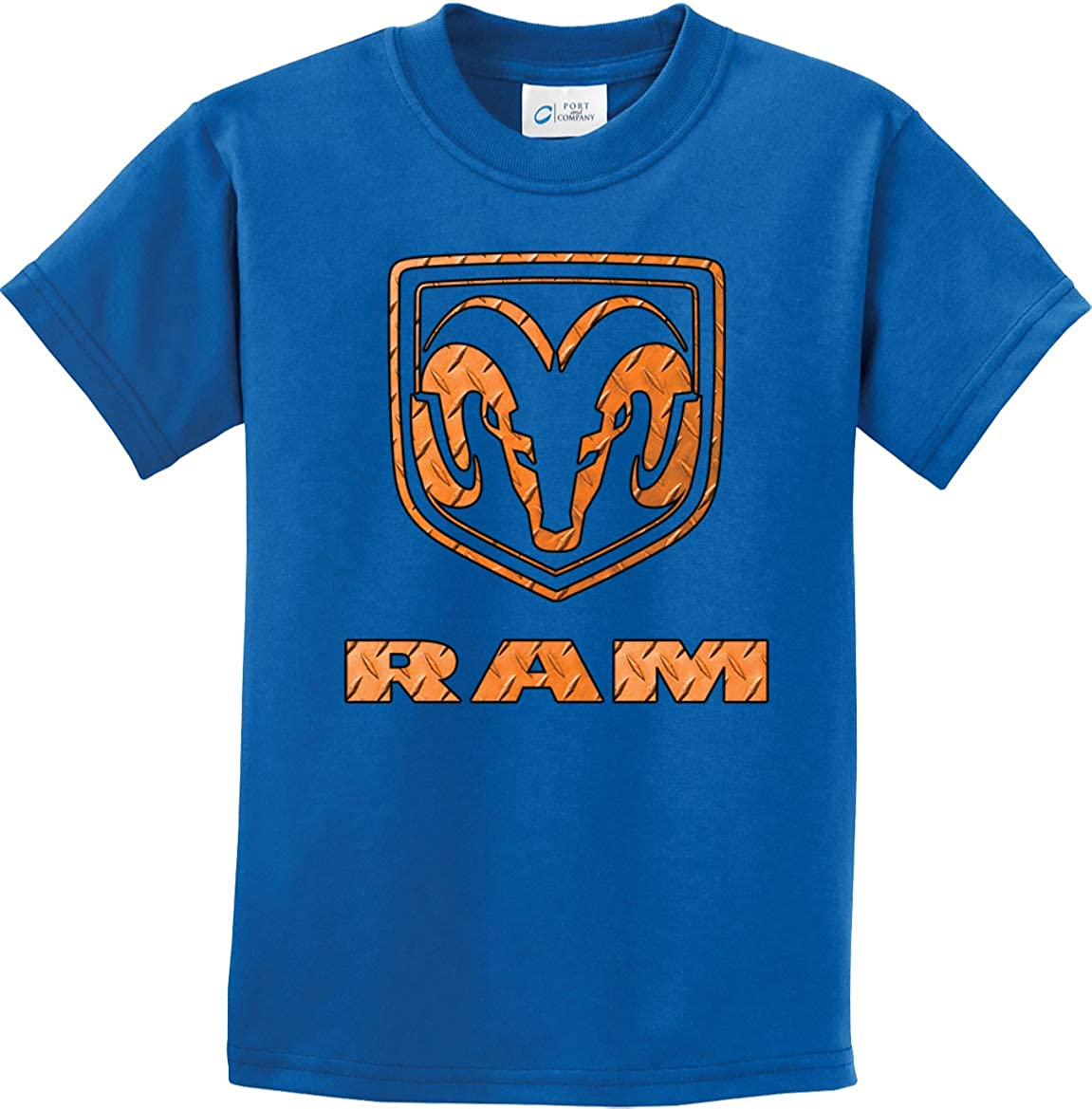 Kids Dodge Ram T-Shirt Diamond Plate Logo Youth Tee