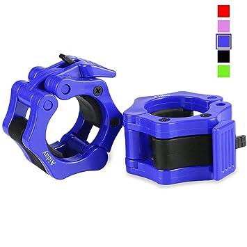 Aiduy Barra de pesas olímpico Barra abrazadera ABS de 50 mm, Abrazaderas de bloqueo con