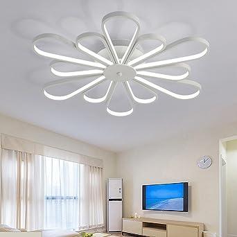 Moderno LED Lámpara de techo Redondo Blanco Acrílico Pantalla de lámpara Lámpara de techo Elegante Flor