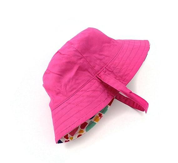 1c7bcf665b49 Stillshine Chapeau de soleil pour enfants Chapeau de pêche de coton de  fille de chapeau de protection solaire de bébé 3 mois - 8 ans  Amazon.fr   Vêtements ...