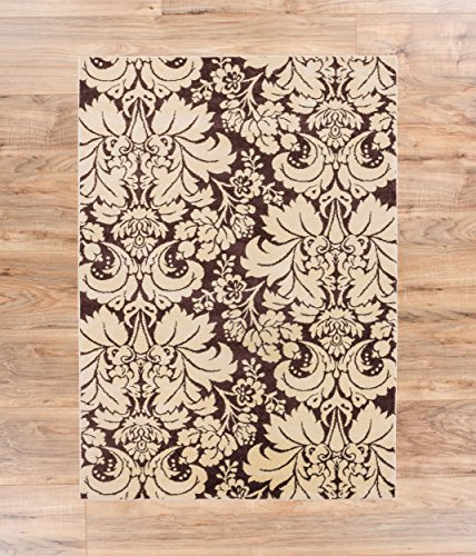 Dream Damask Brown Oriental Geometric Modern Casual Lattice Area Rug 8x10 8x11 ( 7'10