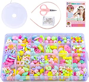 SUNNYPIG Jewelry Making Craft Beads Kits for Kids Girls- Best Christmas Birthday Gift