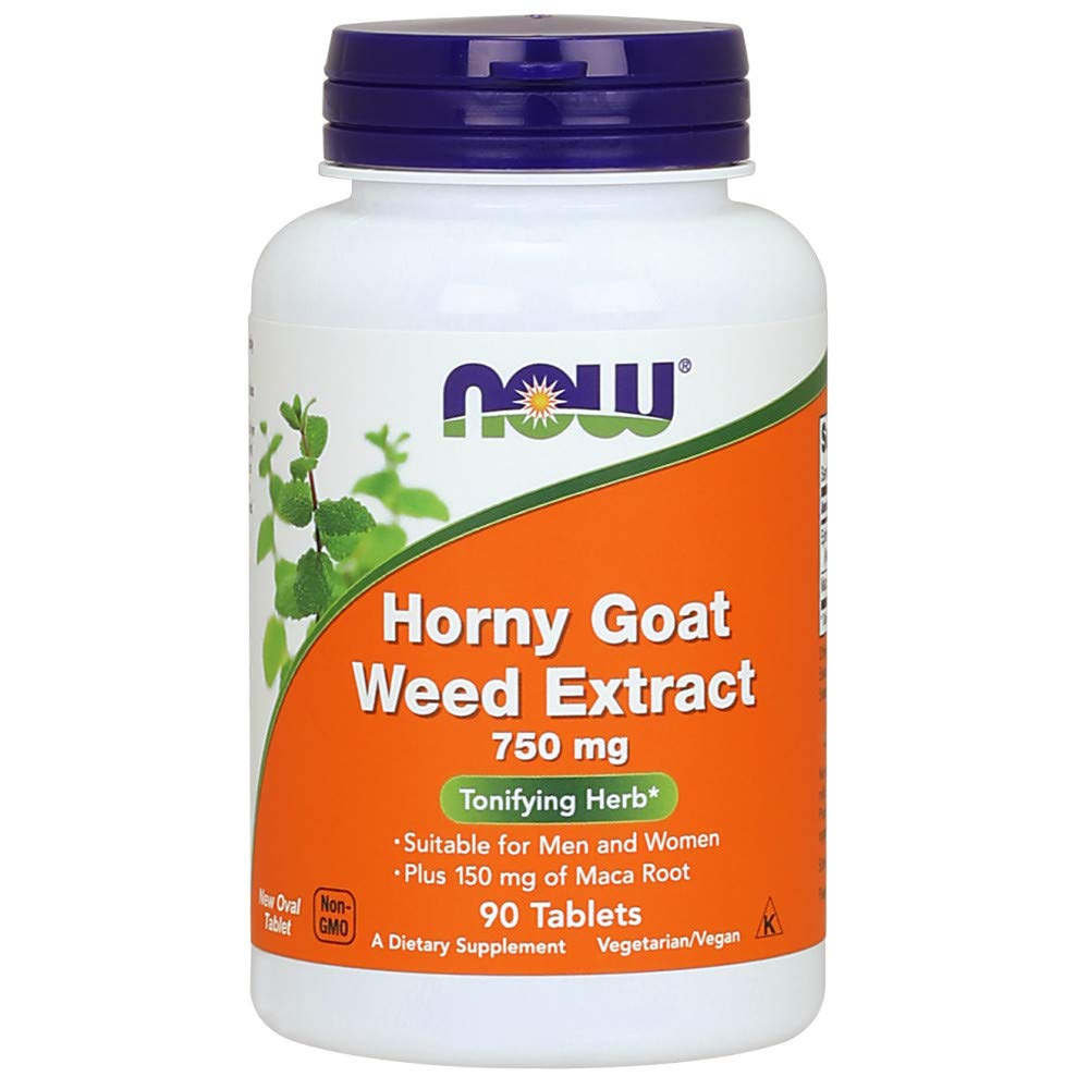 NOW Horny Goat Weed Extract 750 mg,90 Tablets