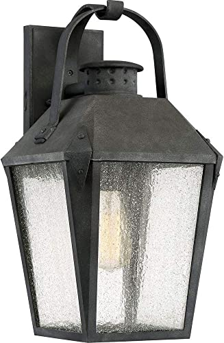 Quoizel CRG8410MB Carriage Outdoor Lantern Wall Sconce, 1-Light, 150 Watts, Mottled Black 19 H x 10 W