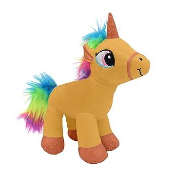 Amazon Com Emelem Unicorn Stuffed Animal Soft Plush Toy Rainbow