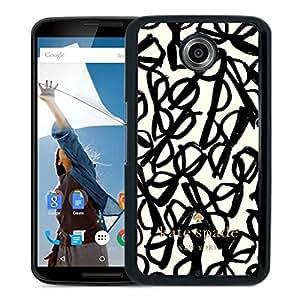 Unique Designed Kate Spade Cover Case For Google Nexus 6 Black Phone Case 265