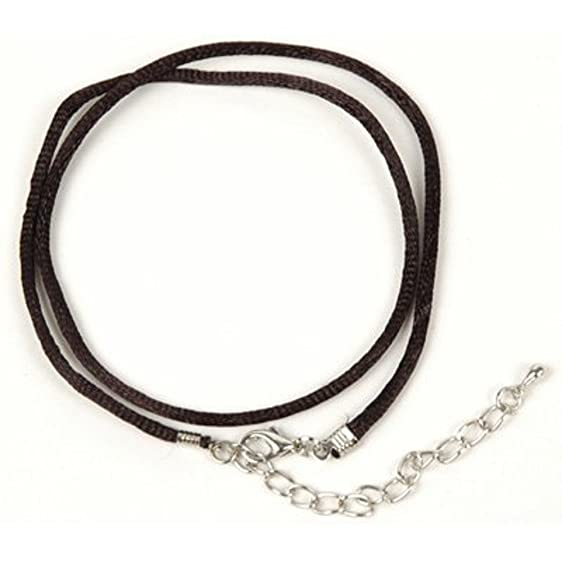 Amazon necklace cord for pendants black silk satin 19 necklace cord for pendants black silk satin 19quot aloadofball Choice Image