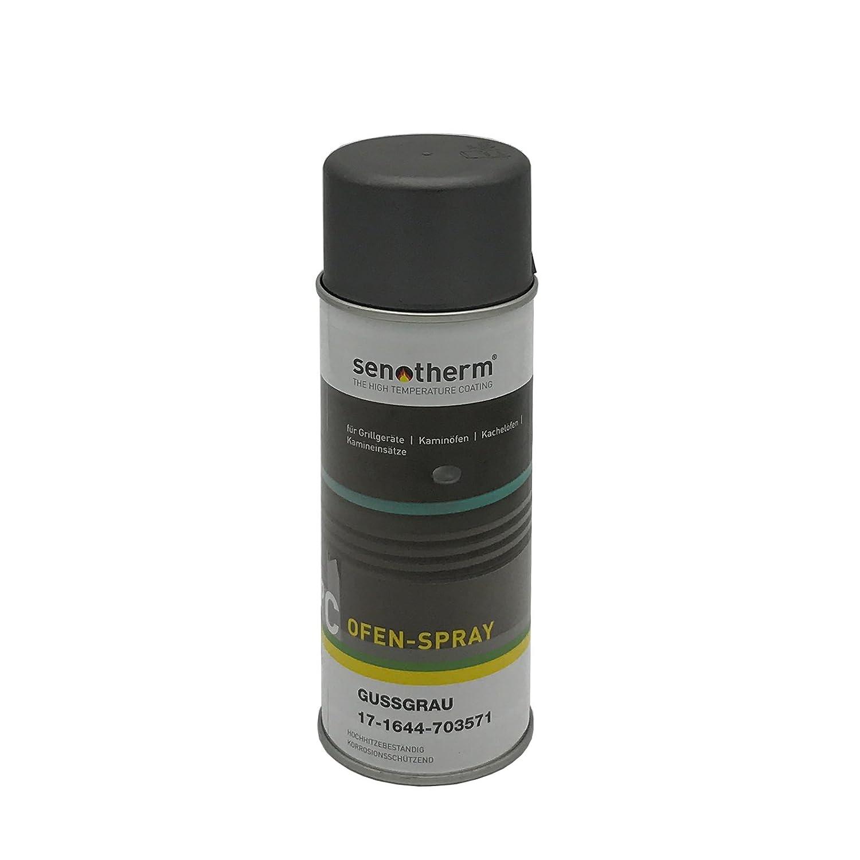 Senotherm Stove Spray, Iron Grey, Heat-Resistant, Coloured Paint Spray AA-Kaminwelt