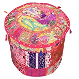 Stylo Culture Ethnic Patchwork Ottoman Pouf Cover