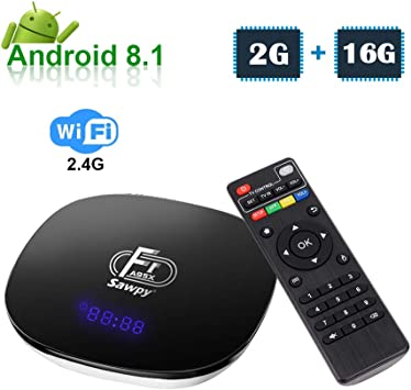Sawpy Android 8.1 TV Box A95X F1 con CPU Amlogic S905W Chip de Quad Core 64