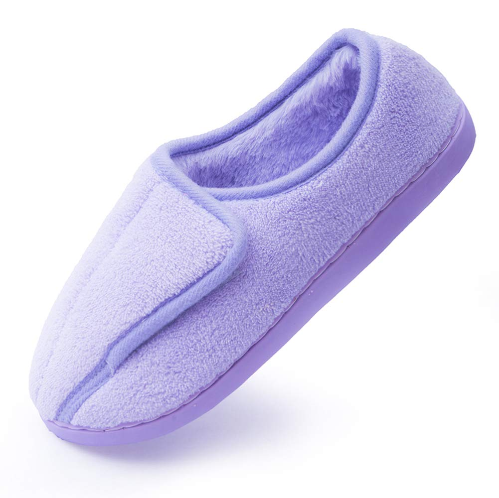 Git-up Women Diabetic Slippers Arthritis Edema Memory Foam Closed Toed for Expectant Mom (10, Purple) by Git-up