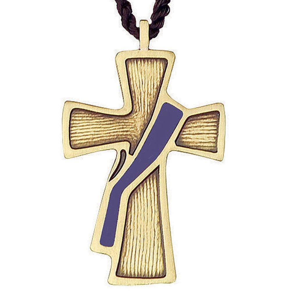 482-P Deacon Cross Purple Sash