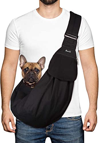 SlowTon-Pet-Carrier,-Hand-Free-Sling-Adjustable-Padded-Strap-Tote