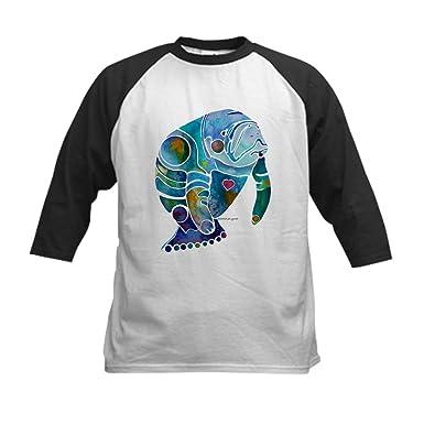 897f9dc8 CafePress - Manatees Kids Baseball Jersey - Kids Cotton Baseball Jersey,  3/4 Raglan