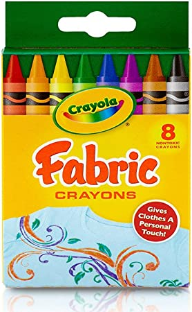 100/% Cotton Fabric Benartex Crayons Colouring In Crayon Childrens