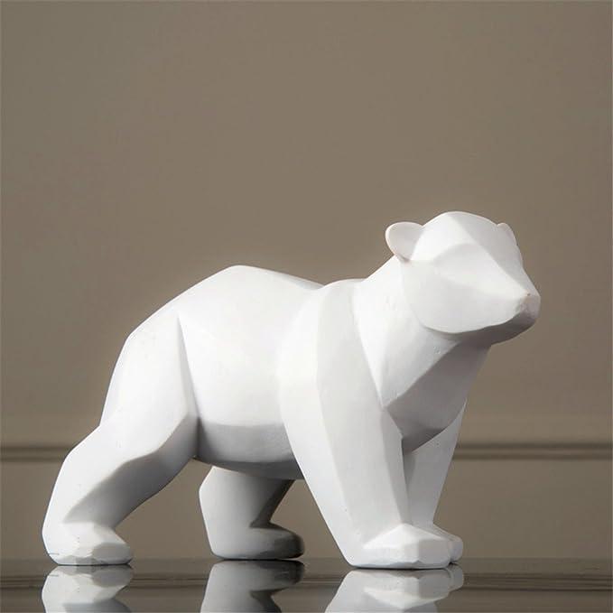 Resina Abstracta Blanco Oso Polar Escultura Estatuilla Artesanía ...