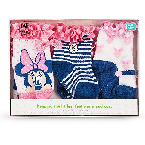 Disney Store Baby Girls Minnie Mouse Sock Set 3-Pack, Multicolor
