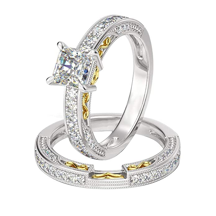2.00CT Diamond Princess Cut Engagement Solitaire Ring 10k White Gold Over