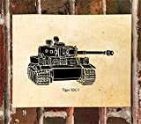 KillerBeeMoto: Limited Print of A German World War Two Tiger Tank 1 1 of 50 Print