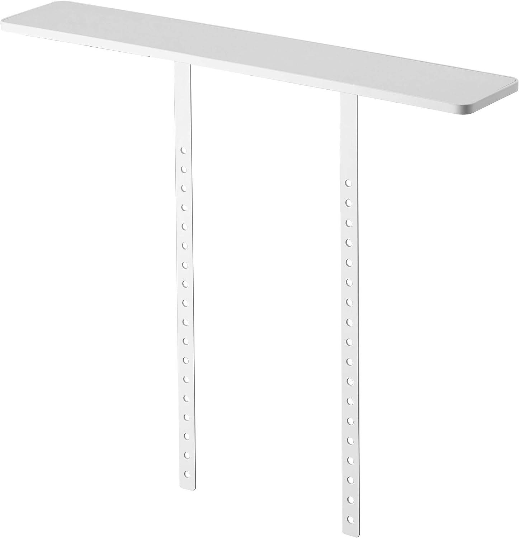 Amazon Com Yamazaki Home Smart Vesa Compliant Tv Shelf Floating Shelves One Size White Kitchen Dining