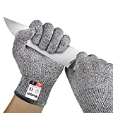 Safety Cut Resistant Gloves, Level 5 Protection Food Grade Kitchen Use for Cutting and slicing (M)