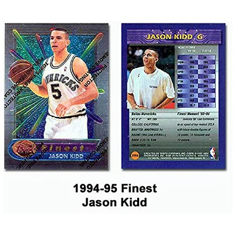 Amazoncom Topps Finest Jason Kidd 1994 95 Rookie Card Everything Else