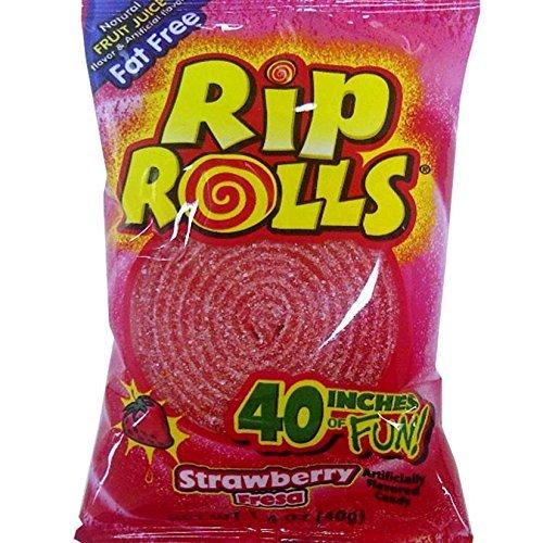 Sour Rip Rolls - Watermelon, 24 count display box ()