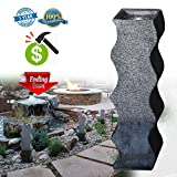 Decor Outdoor Fountain Modern Cast Stone Simple Curved Shape Column Decoration Water Fountain for Garden/Patio/Couryard 35.5''