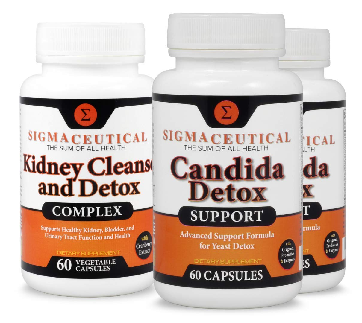 Bacterial Vaginosis Treatment - Candida Detox & Kidney Cleanses - 2 Month Bundle by Sigmaceutical