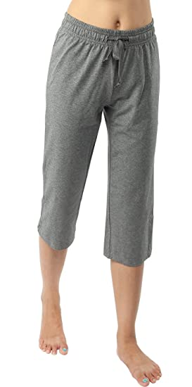 8f876ebc2b6c8f Image Unavailable. Image not available for. Color: iLoveSIA Women's Jersey  Capri Casual Pants US Size S Heather Grey