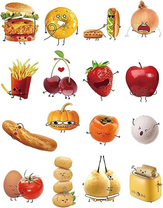 decalmile Cucina Adesivi Murali Cibo Emoji Adesivi da ...