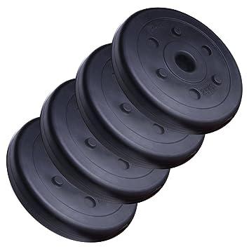 ScSPORTS HS050 - Pesa de disco con orificio de 30 mm (4 unidades de 2,5 kg, plástico), color negro: Amazon.es: Deportes y aire libre